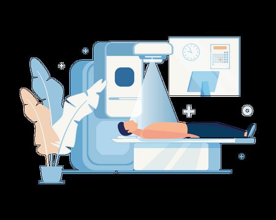 Advance Body scanner Illustration