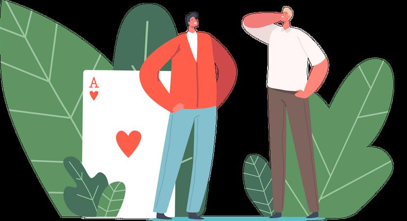 Advantage in Business or Career Illustration