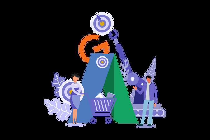 Adword Digital Marketing Illustration