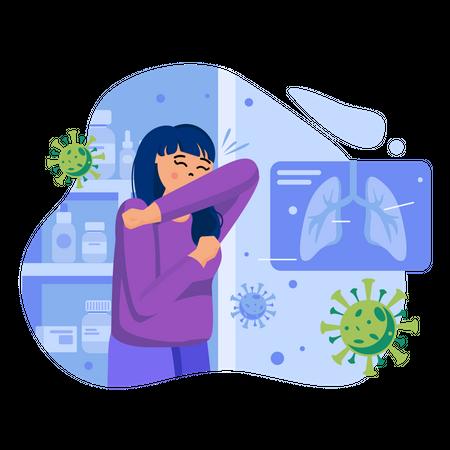 Affected from coronavirus Illustration