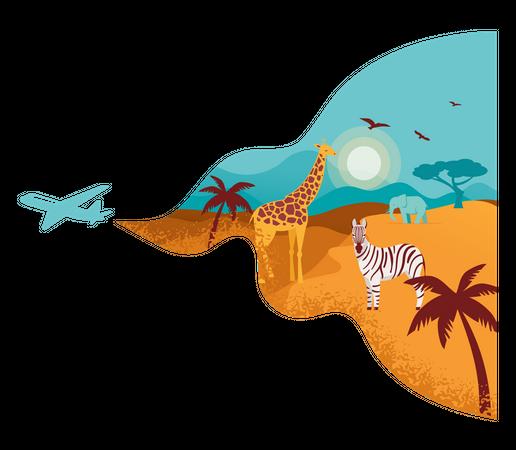 Africa banner Illustration