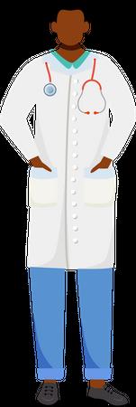 African american doctor Illustration