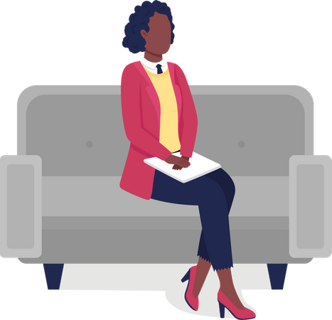 African American professional woman Illustration