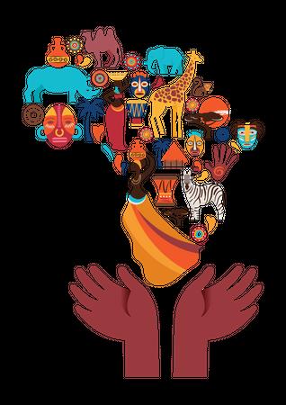 African culture Illustration