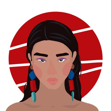 African girl portrait Illustration