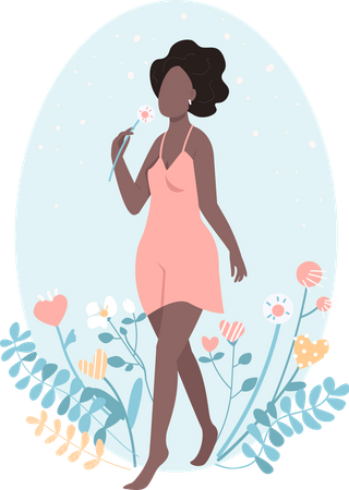 African happy girl Illustration