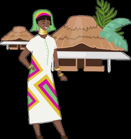 African native Illustration