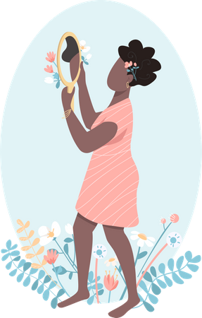 African woman self love Illustration