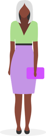 Afro american businesswoman Illustration