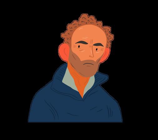 Aged man Illustration