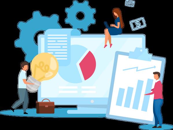 Agency based business model Illustration