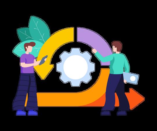 Agile Methodology Illustration