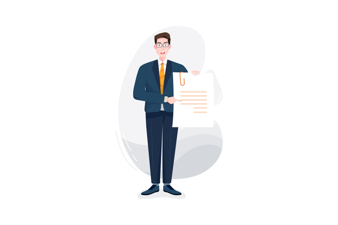 Agreement papers Illustration