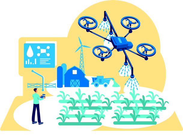 Agribusiness automation Illustration