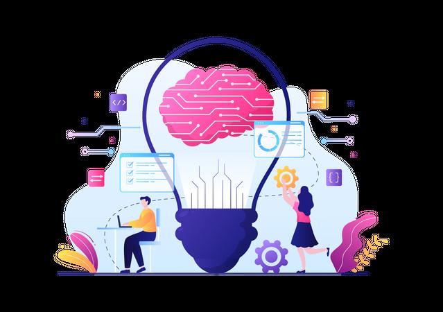 AI Brain Technology Illustration