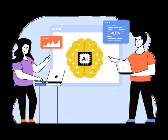 AI Development Illustration