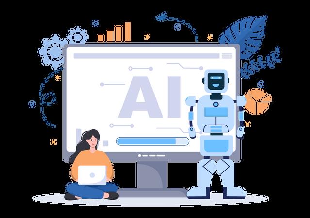 AI Robotics Illustration