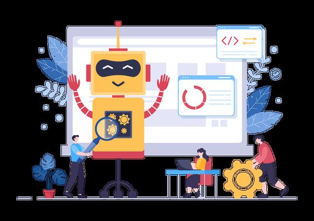 AI Robotics Technology Illustration