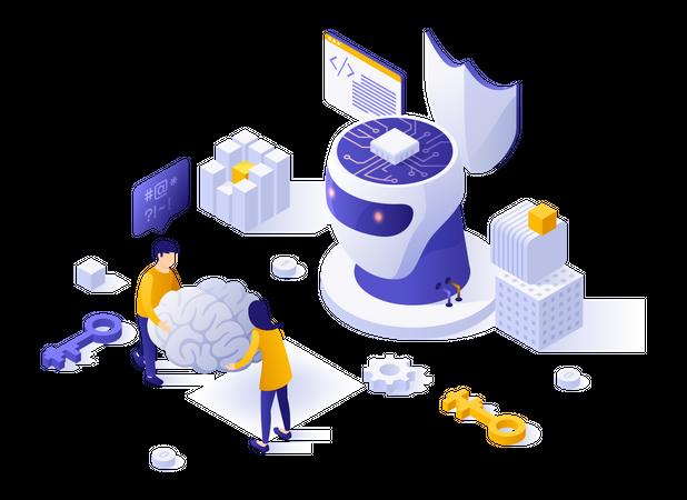 AI technology development Illustration