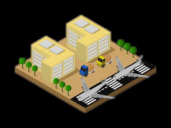 Air base Illustration