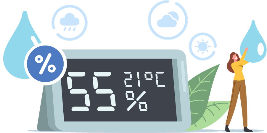 Air Humidity Illustration