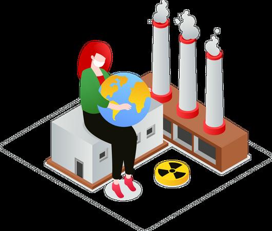Air pollution Illustration