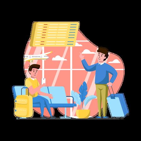 Airport Lounge Illustration