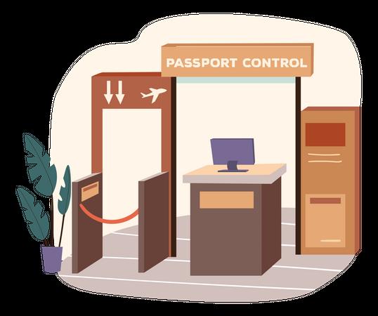 Airport Reception Illustration