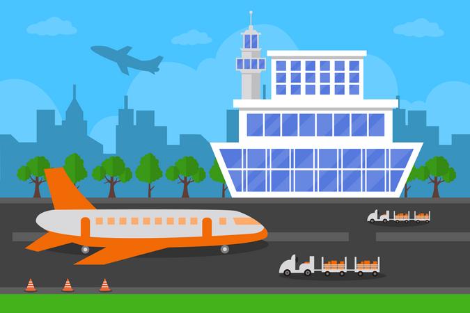 Airport Terminal Building Illustration