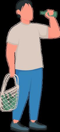 Alcoholic Illustration