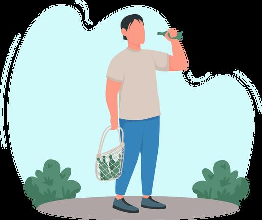 Alcoholism Illustration