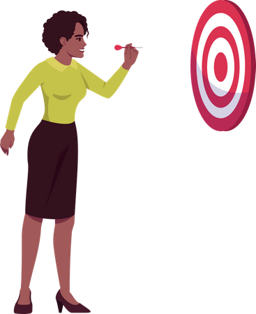 Ambitious employee focus on aim Illustration