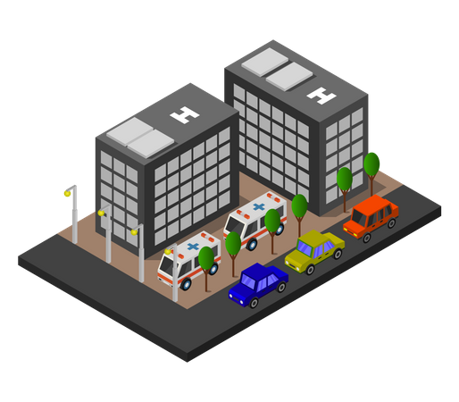 Ambulance facility Illustration