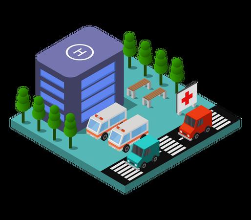 Ambulance service Illustration