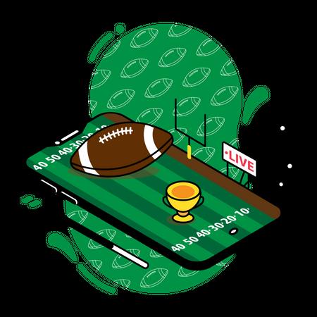 American football live match Illustration