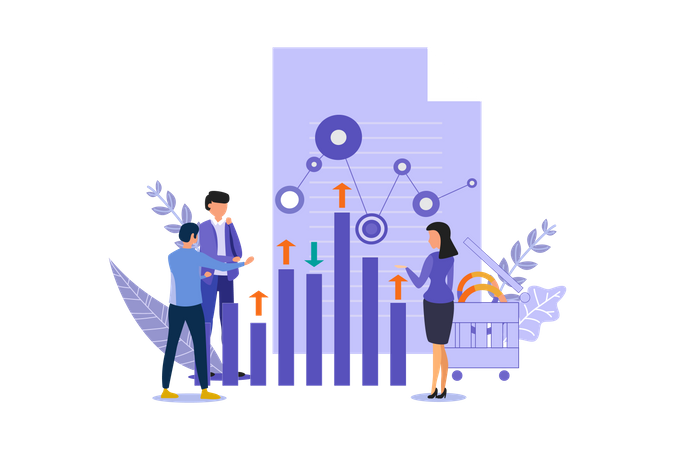 Analysis Digital Marketing Illustration
