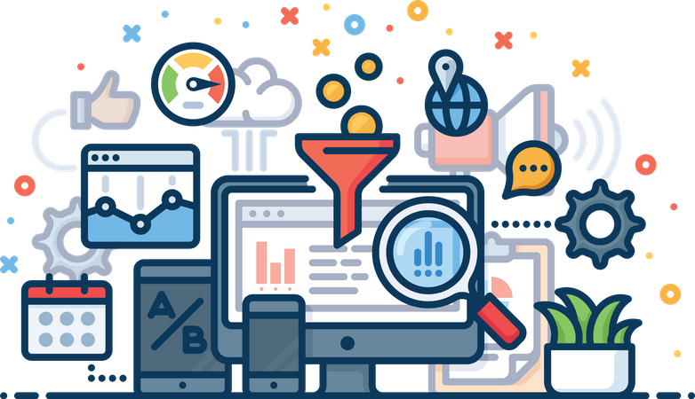 Analysis for business Illustration