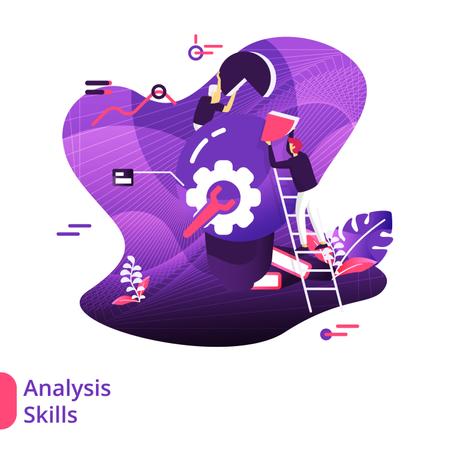 Analysis Skills Modern Illustration Illustration