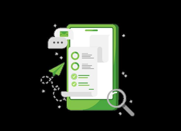 Analytics application Illustration