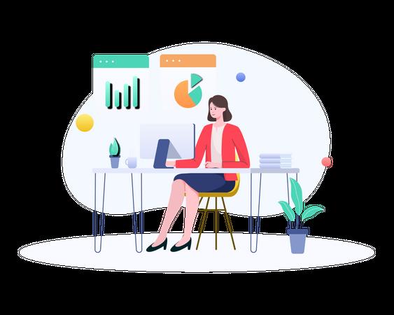 Analytics Presentation Illustration