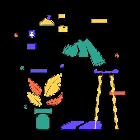 Analyzing user profile Illustration