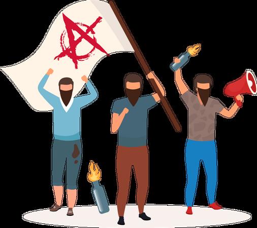 Anarchy political system Illustration