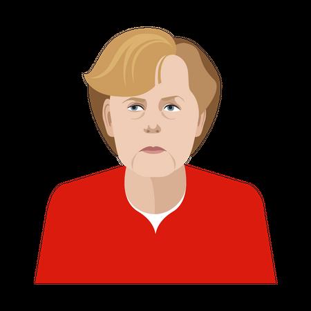 Angela Merkel Illustration