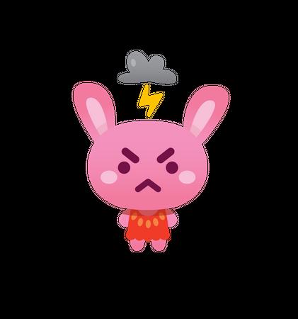 Angry Bunny Illustration