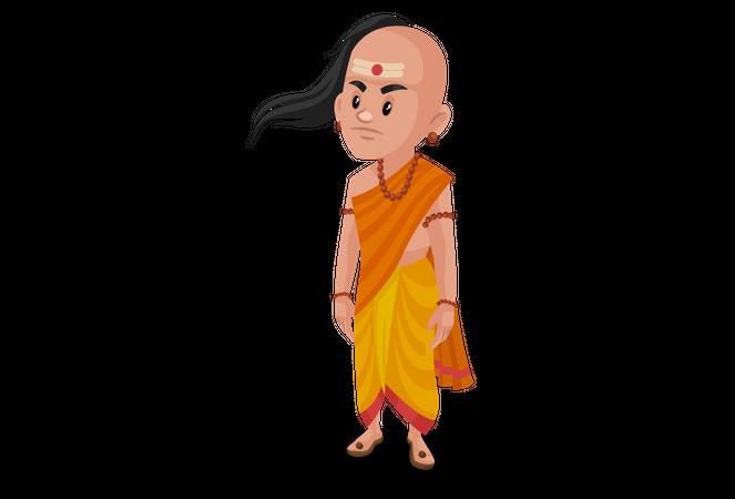 Angry Chanakya Illustration