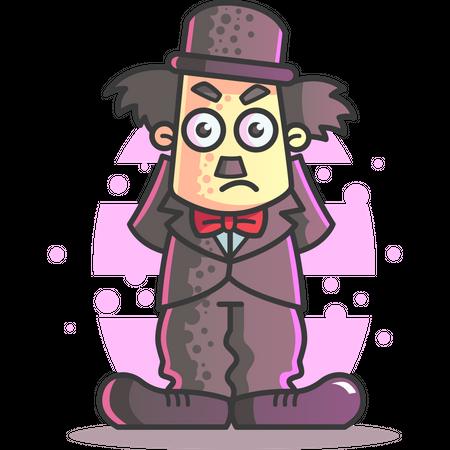 Angry Charlie Chaplin Illustration