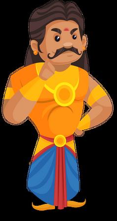 Angry Duryodhana Illustration