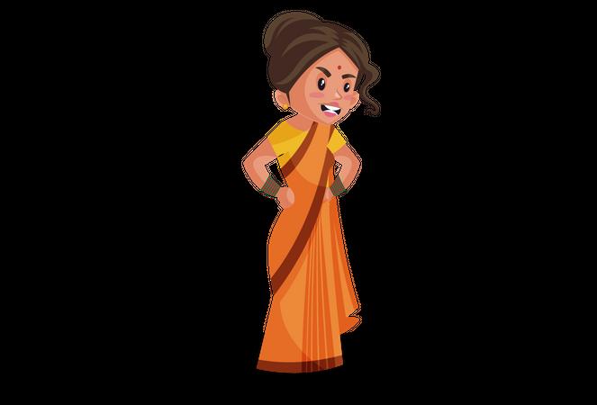 Angry Goddesses Sita Illustration