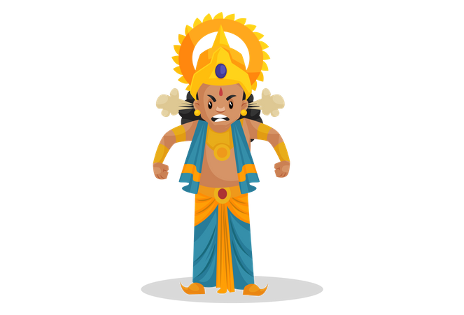 Angry Lakshmana Illustration