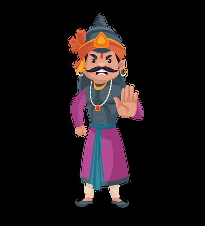 Angry Maharana Pratap Illustration